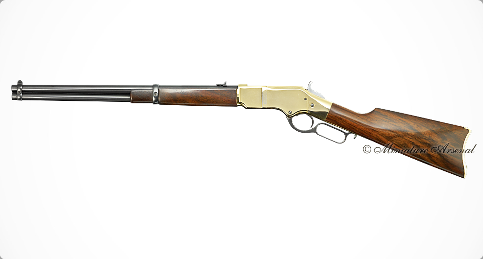 A miniature model of the original Winchester Carbine with a