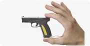 Caracal F pistol miniature model in hand